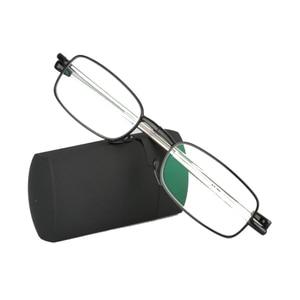 Image 3 - מעבר Photochromic מתקפל אופטי קוצר ראייה רוחק קריאת משקפיים + Rx Rx מותאם אישית כוח מיני כיס קורא עם מקרה עבור