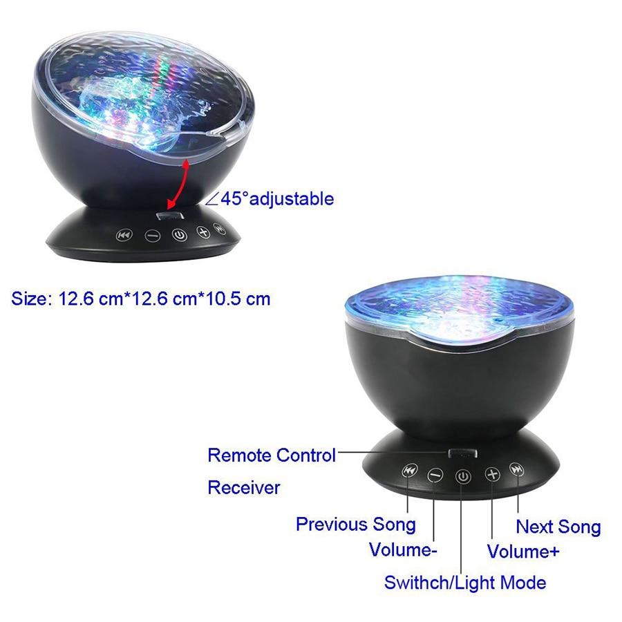 Projetor Lâmpada Recarregável USB LED Night Light
