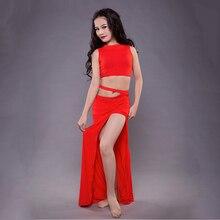 جديد الأطفال الشرقي أزياء رقص الأطفال Hot البيع الرقص تظهر الملابس الصيف مشروط انقسام تنورة مجموعة التوصيل المجاني