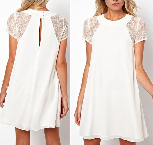 wit jurkje met korte mouwen