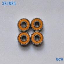 Frete grátis 4 pçs 3x10x4 smr103c 2os abec7 híbrido cerâmica carretel de pesca rolamentos por gch
