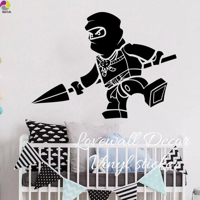 cartoon lego ninjago jay spear wall sticker boy room baby nursery