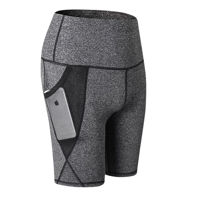 Sport Shorts Women Compression Shorts Women Sports Pocket Leggings High Waist Elastic Running Shorts Fitness Gym Short Feminino 4