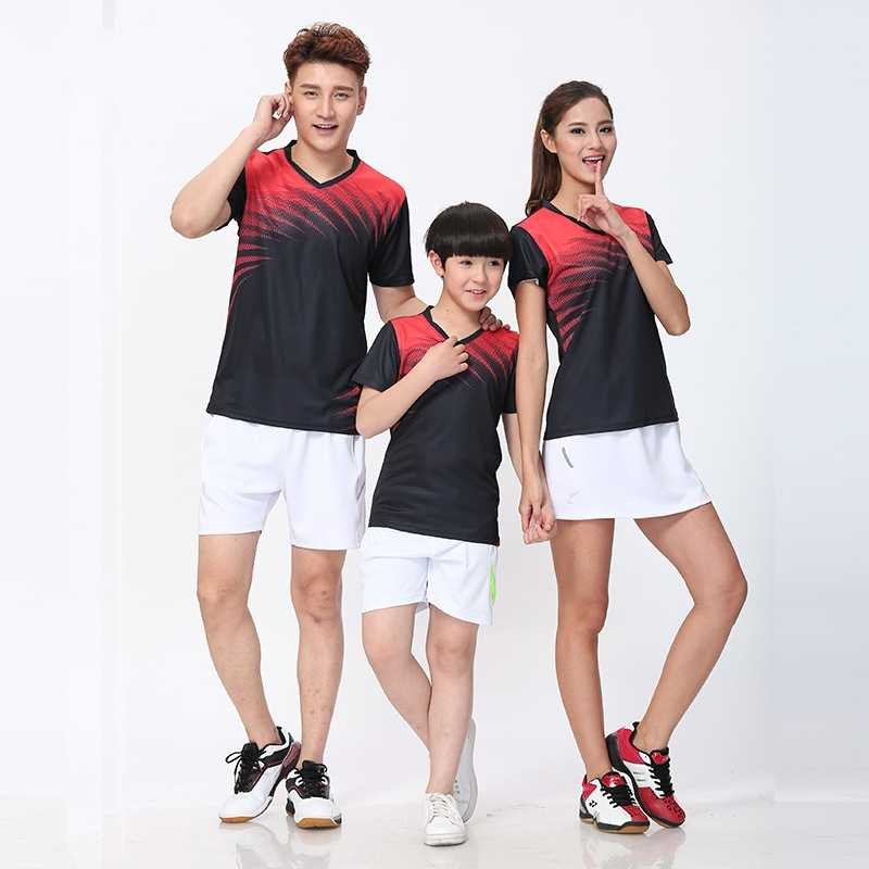 new men badminton shirt child tennis sports shirt clothing,Badminton jersey sportswear clothes,table tennis t-shirt Jersey QU76