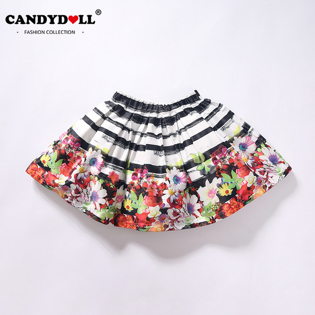 Children Baby Girls Skirts Kids Clothing Baby Girls Floral Printed Skirts Casual Short Pleated Skirts 3-12 Years SAJ3138