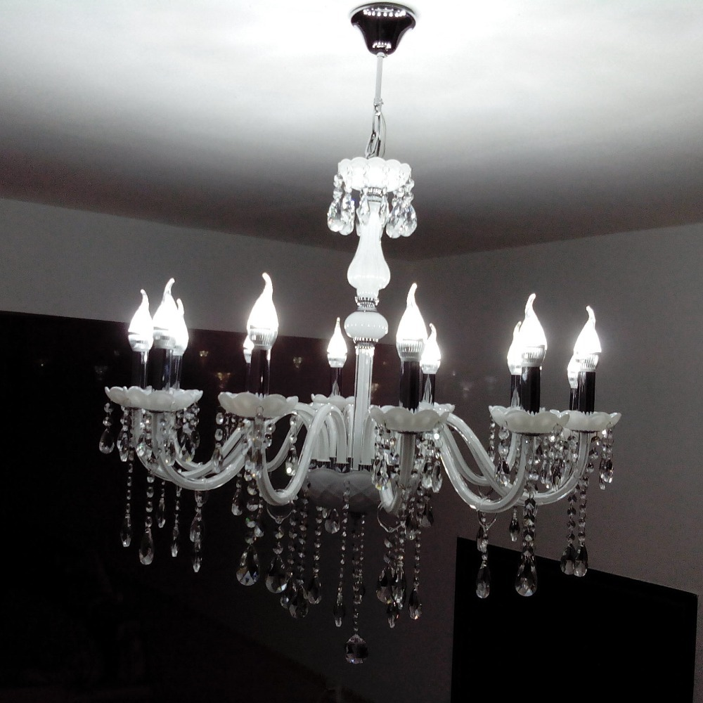 Luxury European Crystal Candle Living Room Chandelier