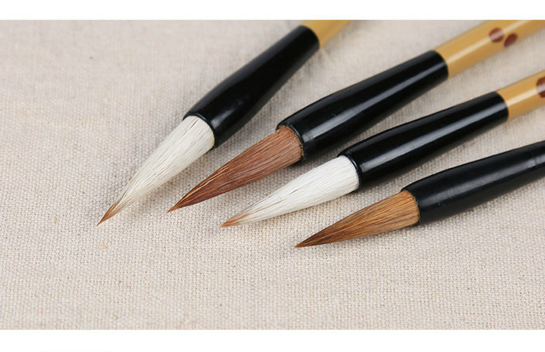 High Quality Chinese Traditional Calligraphy Set Scholar's Four Jewels Regular Script Calligraphy Writing Brushes Set