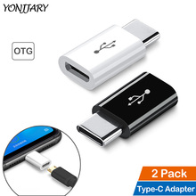 2Pcs USB C Male to Micro USB Connector OTG Adapter Phone Charging for OnePlus 6 6T 7 Pro Type-C Adapter for Google Pixel 2 3 XL