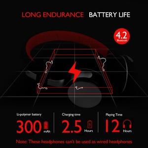 Image 4 - Oneodio A8 Bluetooth אוזניות עם מיקרופון LED אור סופר עמוק בס מתכת מתקפל ספורט Bluetooth 4.2 אוזניות אלחוטיות