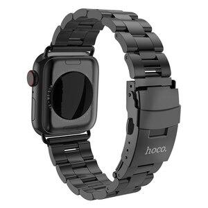 Image 2 - HOCO 2019 New Arrival pasek ze stali nierdzewnej do zegarka Apple iWatch seria 1 2 3 4 5 pasek 42mm 44mm 38mm 40mm taśma metalowa