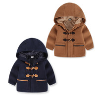 2018 Wool Blends Children Clothes Toddler Kids Baby Boys Autumn Winter Hooded Coat Cloak Jacket Thick