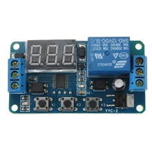 лучшая цена Automation DC 12V LED Display Digital Delay Timer Control Switch Relay Module