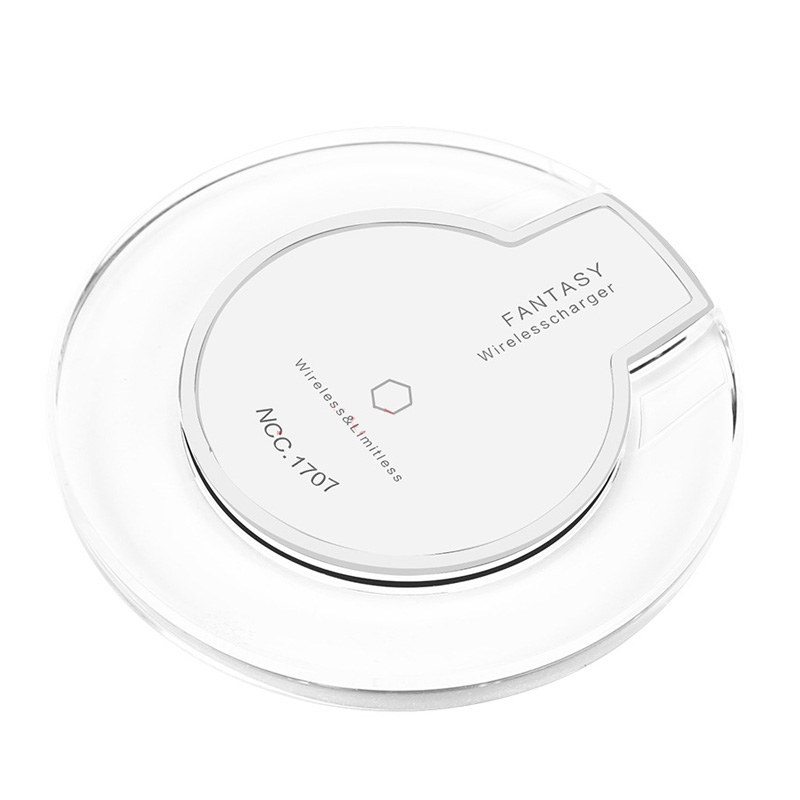 universal qi wireless charger charging pad thin power bank transmitter for iphone 8 plus x