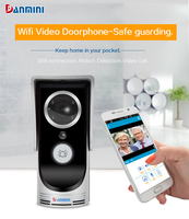 DANMINI Wireless Doorbell HD 720P WIFI Video Doorbell Night Vision Two Way Audio Wifi Door Video