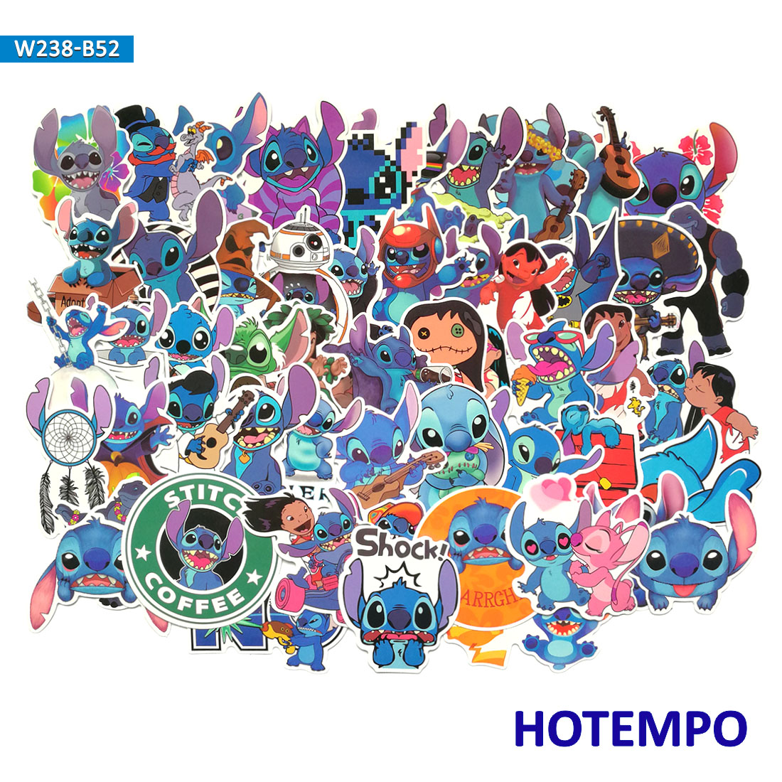 50pcs CuteLilo Stitch Anime Lovely Stickers for Kid Gift DIY Letter Diary Scrapbooking Stationery Pegatinas Phone Laptop Sticker(China)