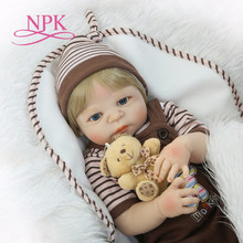 NPK New arrival full silicone boy body reborn baby boy dolls soft silicone vinyl real gentle touch bebe new born real baby(China)