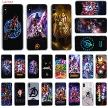 Lavaza Marvels The Avengers Hard Phone Case for Apple iPhone 6 6s 7 8 Plus X 5 5S SE for iPhone XS Max XR Cover