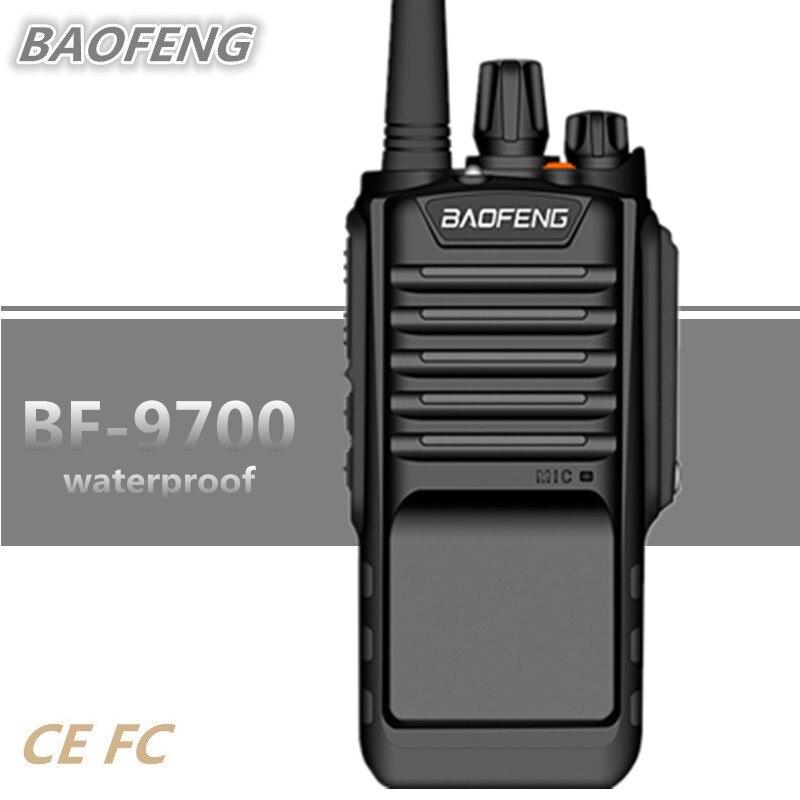 BAOFENG Walkie Talkie UHF BF-9700 8 W 2800 MAH IP67 UV-9R Woki Toki de Rádio Amador HF Transceptor de Rádio À Prova D' Água