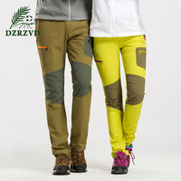 Summer Outdoor Hiking Pants Men Women Sports Elastic Softshell Splicing Pantalones Breathable Trekking Pants Quality Fabrics 101