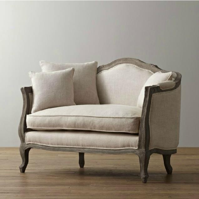 Charmant European Style Solid Wood Furniture/ American Village The Flax Cloth Soft  Roll Armchair / Creative