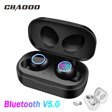 Bluetooth 5.0 TWS earphone headphone true wireless twins earbuds Sports bluetooth earpiece headset with charging box awei t3 twins wireless earbuds earphone bt5 0 with charging box 18jun18 drop ship f