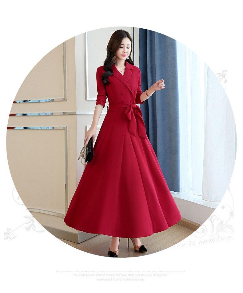 Spring and Autumn 2019 New Women's Dresses Korean Edition Long Sleeve Dresses Overlap Long Popular Temperament with Bottom 133