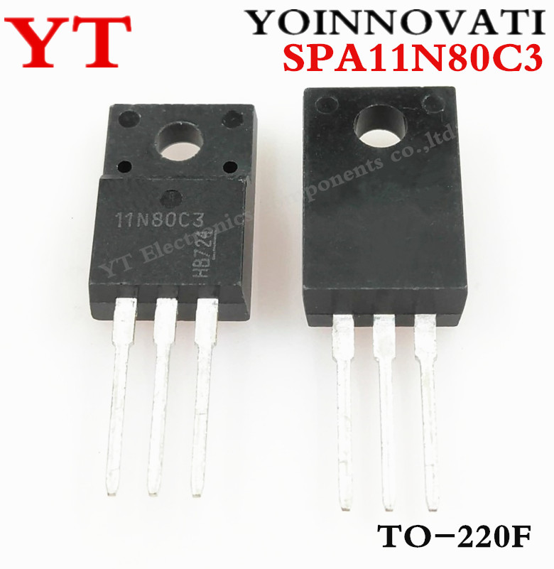 Free shipping 100pcs lot SPA11N80C3 11N80C3 11N80 TO 220F IC best quality