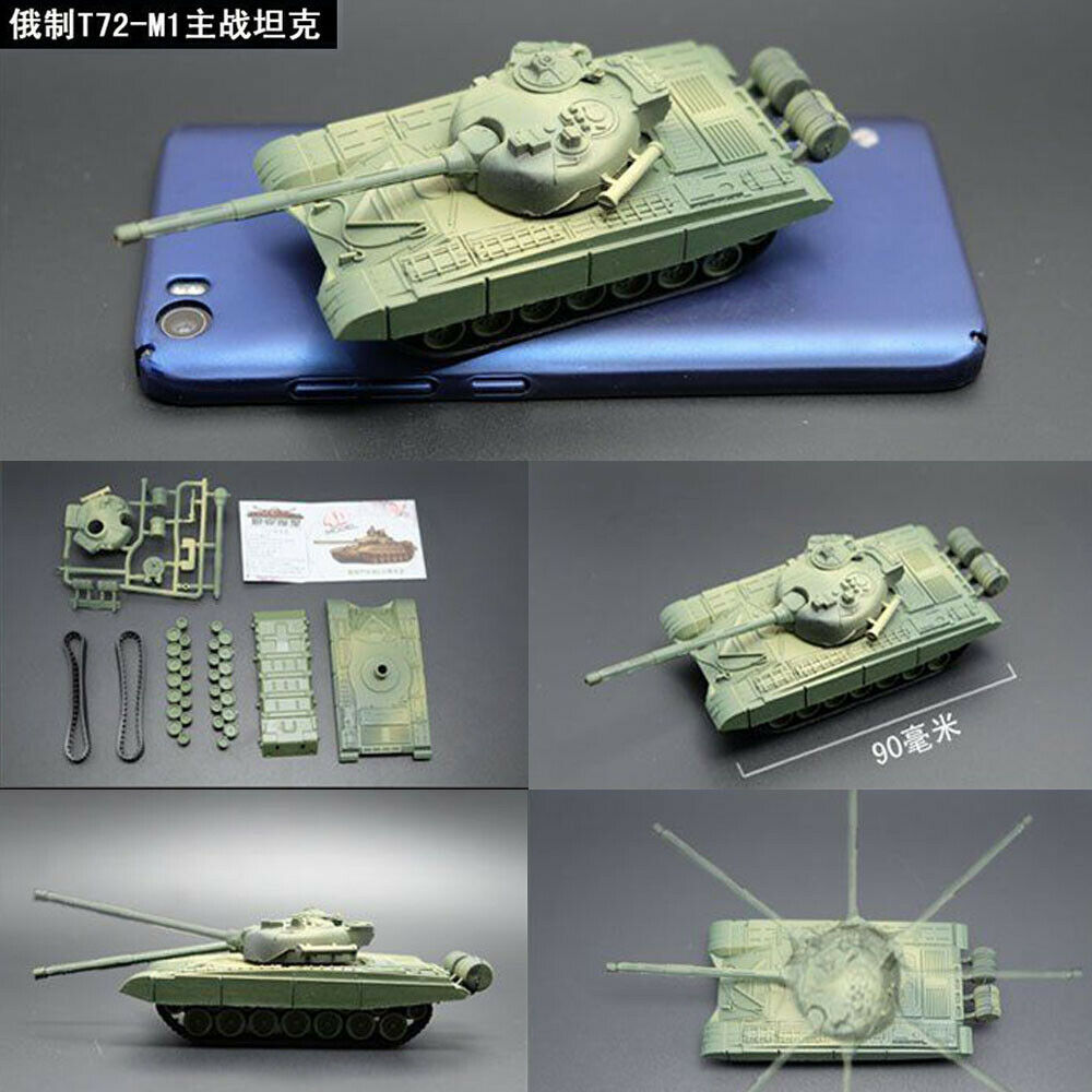 1/72 4D Assemble Tank Model Kit T72-M1 JSU-152 M1 Panther II The Battle Chariot Series WWII Tank Toy Model