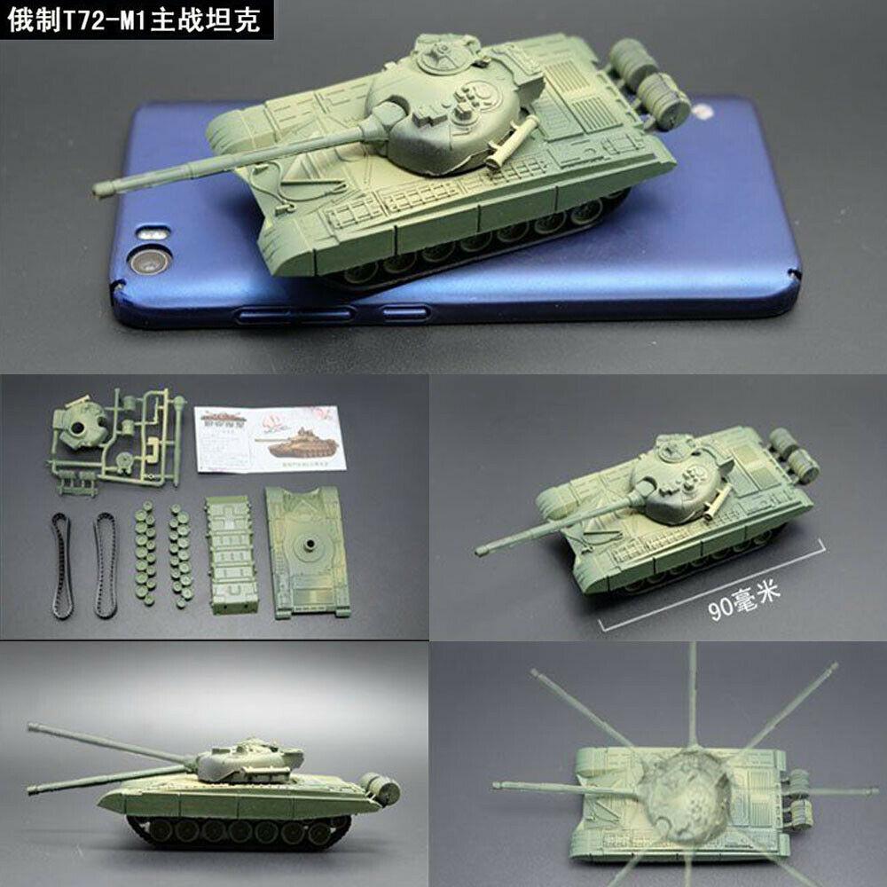 1/72 4D Assembly Tank Model Kit T72-M1 JSU-152 M1 Panther II The Battle Chariot Series World War Tank Toy Model