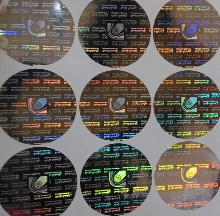 Дизайн логотипа на заказ, голографическая наклейка с радужным цветовым эффектом, лазерная голографическая наклейка против подделки