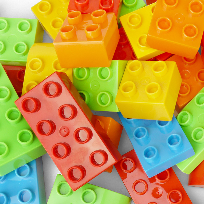 Big Size Duploe Train Building Blocks Bricks Accessory Compatible With Duplos base plate Transparent Square Toys for Children (13)