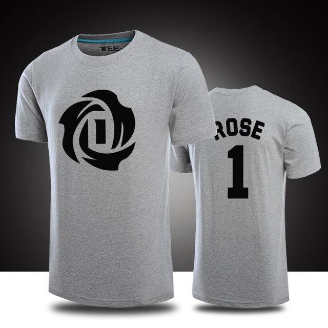 derrick rose short sleeve jersey