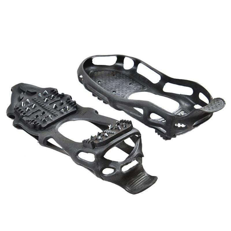 Semelle antidérapante glace de Spike pour Chaussures En Plein Air 24 Dent Anti-Slip Escalade de Neige Spikes Crampons Crampons Chaîne Griffes Poignées Bottes Couvrent hiver