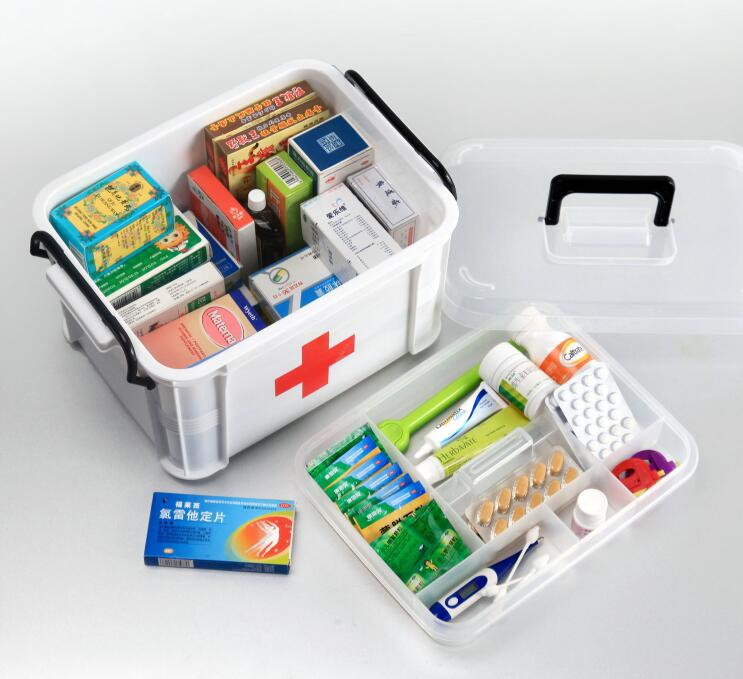 Plastic medicine box family extra large medicine storage box Medical emergency storage health box Portable household medicine bo джинсы medicine medicine me024ewuad55