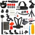 23-1 Value Pack Accessories Kit for Gopro Hero 4 Session Black/Silver Hero+ LCD 3+ 3 2, Sj4000 Sj5000,Head Strap/Chest