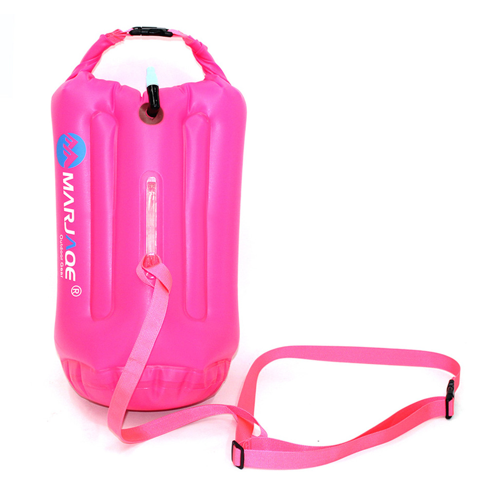 20L Waterproof Air Bag Swim Buoy Swimming Tow Float Dry Bag with Waistbelt Kayaking Storage Swimming Life-saving Drift Bag