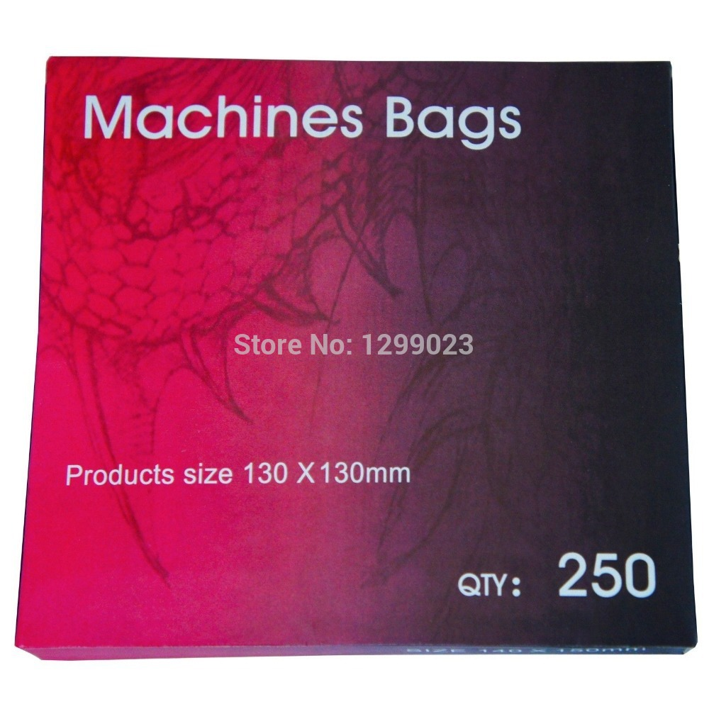 High-grade 250pcs Engangs Tattoo Gun Machine Sleeve Cover Bag Blå tatovering tilbehør Plasma Machine Bag For Tattoo Machine