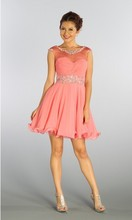 free shipping formal evening 2014 crystal beaded ball dresses elegant dress gowns party prom short Cocktail Dresses