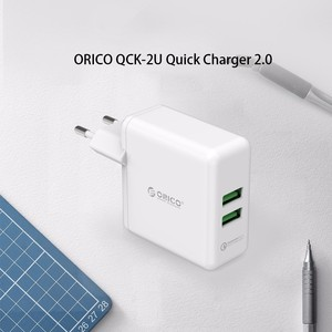 Image 2 - ORICO QC2.0 Fast Charger Dual Port Wall Charger 36W Mobile Phone USB Charger Adapter for iPhone Samsung Xiaomi Huawei Htc