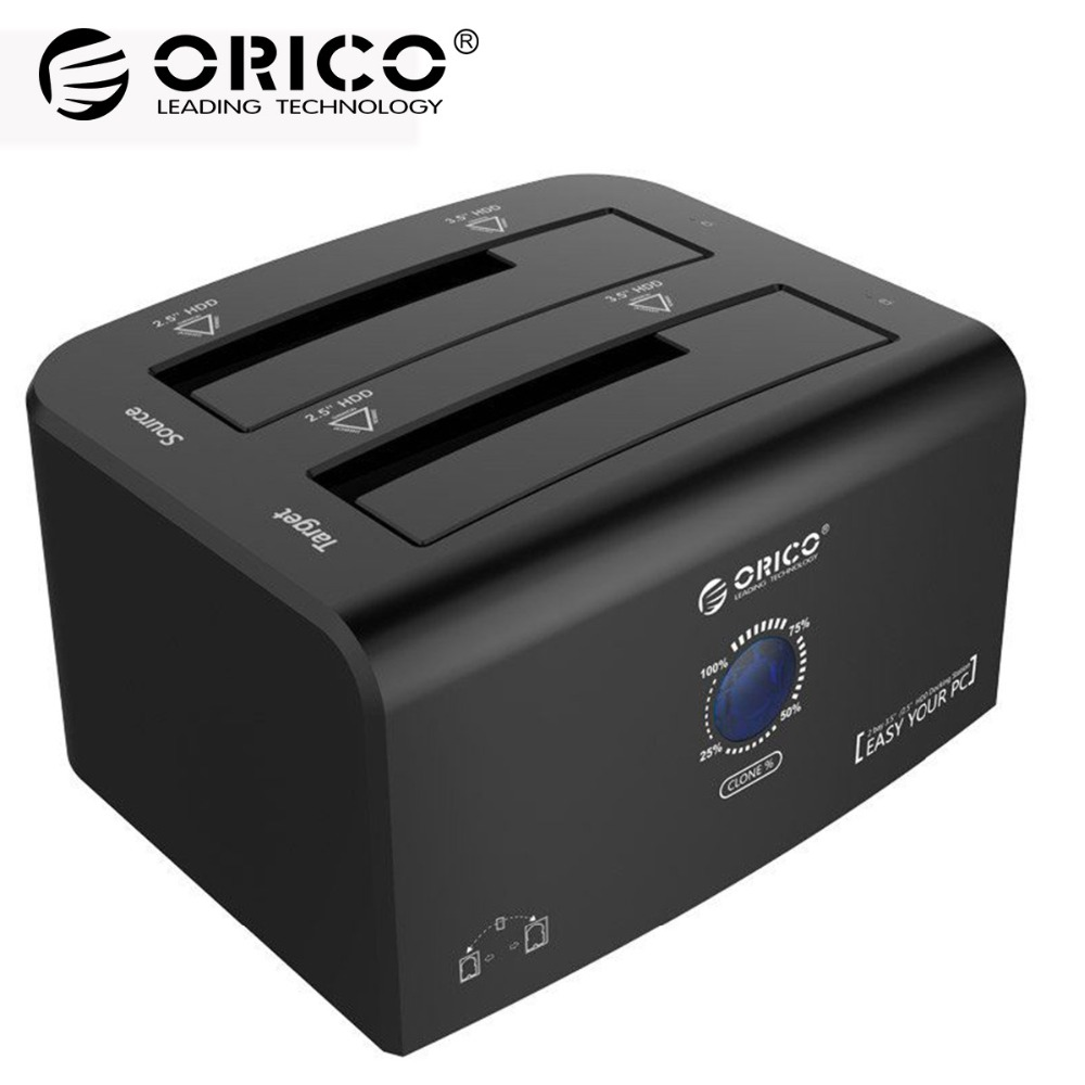 ORICO USB 3.0 HDD Case SATA Hard Drive Docking Station Tool Free Super Speed External Hard Disk Enclosure 2.5 3.5 eSATA Hdd Case blueendless tool free hdd box 2 5 sata hdd externo external hard drive case 2 5 hard disk case plastic hdd case 2 5 usb 3 0