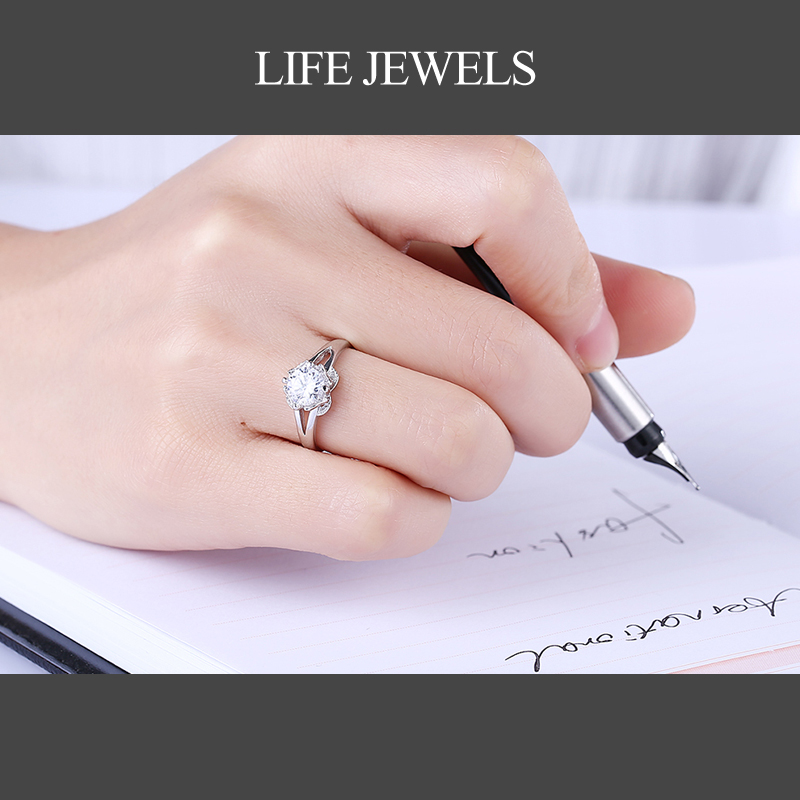 Authentic100 925 Sterling Silver Austrian Zircon Rings Charm l Women Luxury Sterling Silver Valentine 39 s Day Gift Jewelry 18110 in Rings from Jewelry amp Accessories