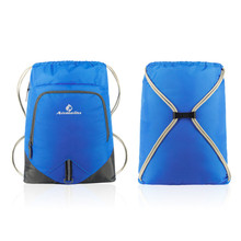 ANMEILU Sports Backpack Walking Pack Storage Bags Outdoor Nylon Drawstring Bag 12L Beach Gym Swimming Pool Simple 6 Colors