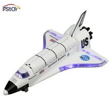 Colombia Space Shuttle Alloy Spacecraft United States Discovery Aircraft Model Pull Back Light And Sound Effect