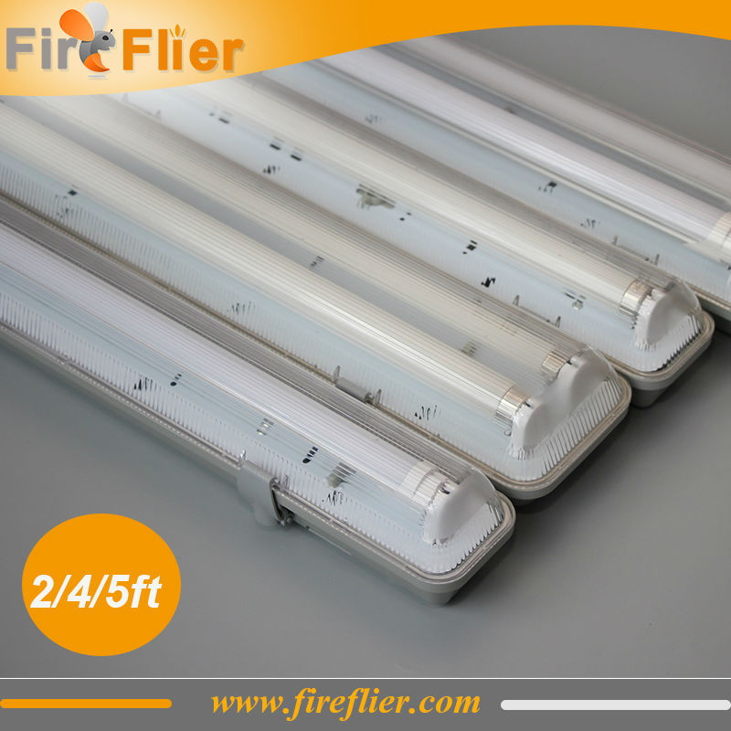 Free Shipping 10pcs/lot Double T8 2ft 4ft 5ft light fixture IP65 ...