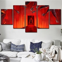 Canvas Printed 5 Pieces Movie Insidious The Last Key Poster Wall Art Home Decor Living Room Painting Artwork Decorative