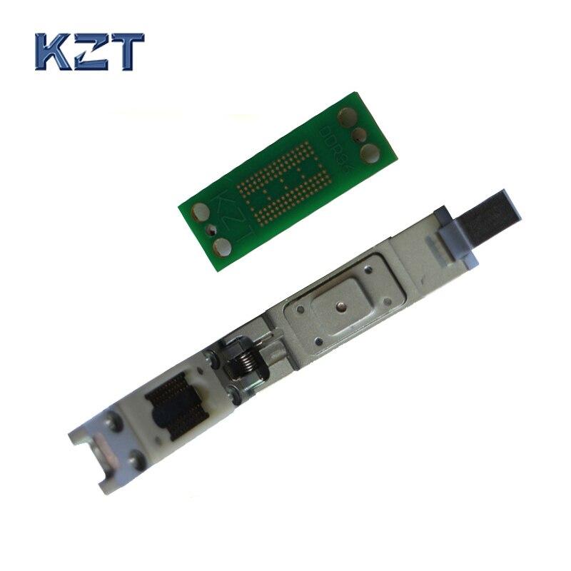 DDR2 3 4 Chip De Memoria Socket De Prueba De 8 Bits/16 Bits Conector Universal De 78/96 Bola Pin 0,8mm Paso Pogo Pin Venta Al Por Mayor