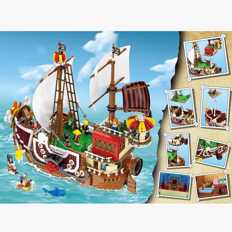 Diy Legoing United ประกอบเรือโจรสลัดชุดเด็กอาคารบล็อกอิฐของขวัญใช้งานร่วมกับ