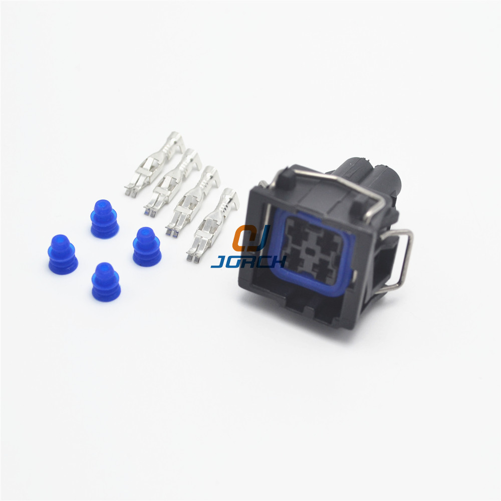 10 sets 4 pin TYCO AMP waterproof wire connector VW AUDI 3.5mm automotive connectors plug