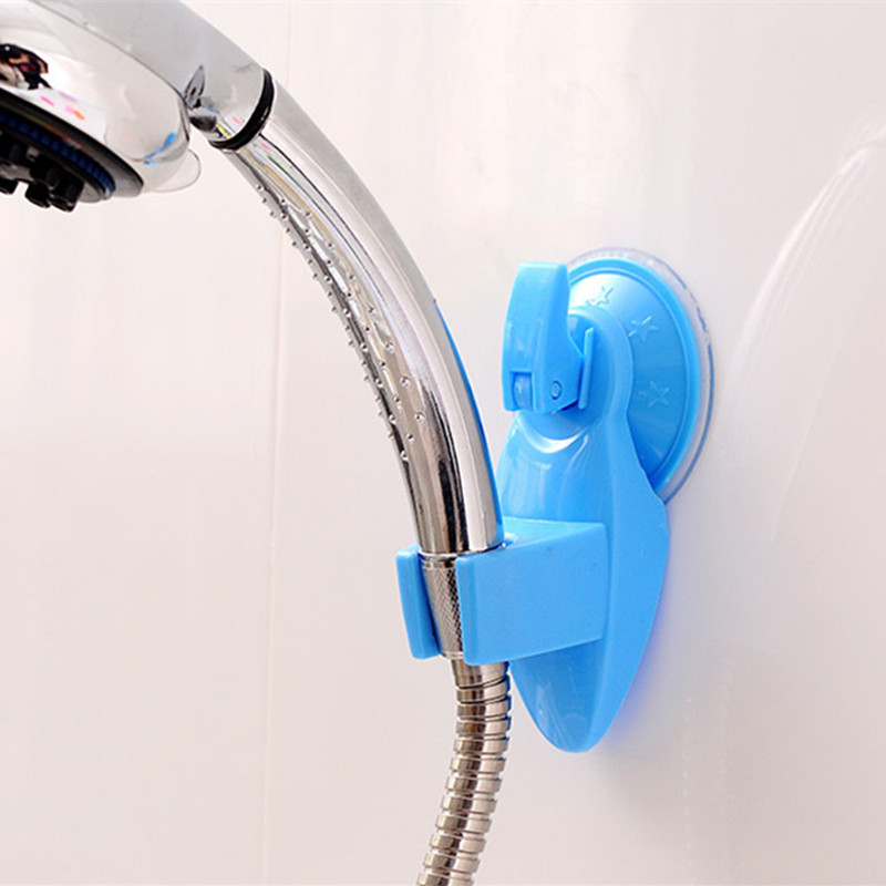Adjustable Bathroom Vacuum Shower Head Stand, Home Wall Suction Cup ...