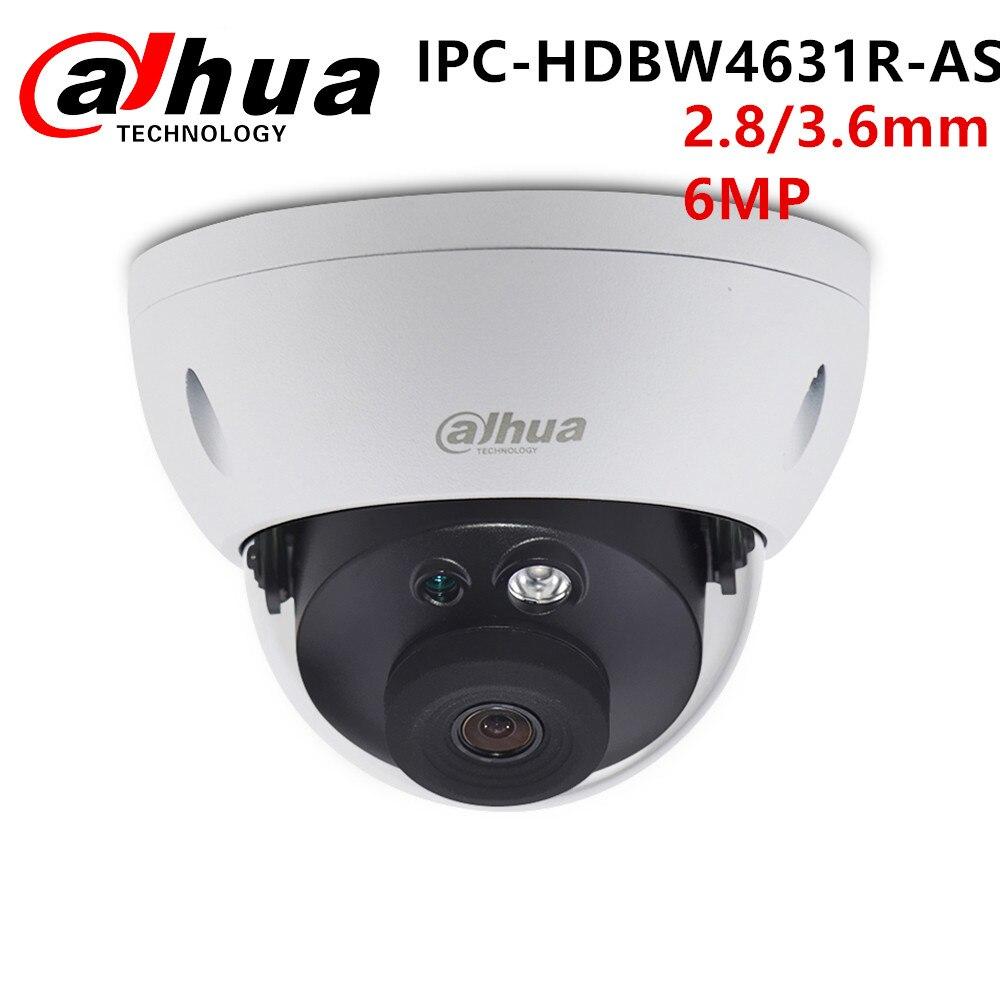 Dahua IP Dome CCTV Camera 6MP IPC HDBW4631R AS Security IP67 IR30 POE built in SD